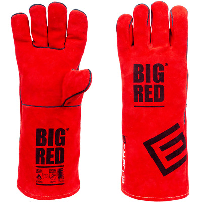Small BIG RED Welding Gloves Ladies Size BIG RED Leather Gloves Small 1Pair • 8.68£