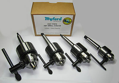 New Myford 2MT Key-Type Lathe Drill Chuck 10mm, 13mm, 16mm MT2 - From Myford Ltd • 27£