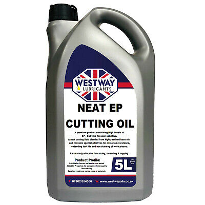 5L Neat Cutting Oil For Milling Turning Tapping Drilling 5 Litres • 19.99£