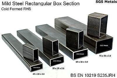 Mild Steel RECTANGULAR BOX SECTION Excellent Range Of Sizes Available From Stock • 22.89£