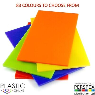 3mm Colour Perspex Cast Acrylic Sheet Plastic Panel 55 DIFFERENT COLOUR A5 A4 A3 • 19.26£