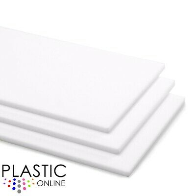 White Colour Perspex Acrylic Sheet Plastic Material Panel Cut To Size • 45.29£
