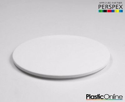 Laser Cut Plastic Circles Acrylic Discs Perspex 3mm, 5mm White Gloss • 26.16£