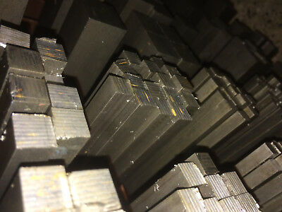 Bright Mild Steel Square Bar Rod Billet - 6mm To 50mm Square - Various Lengths • 20.78£