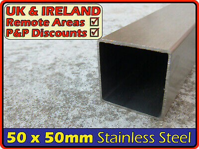 Stainless Steel Square Tube ║50 X 50 Mm║ Box Section Iron,profile,post,pipe • 51.95£
