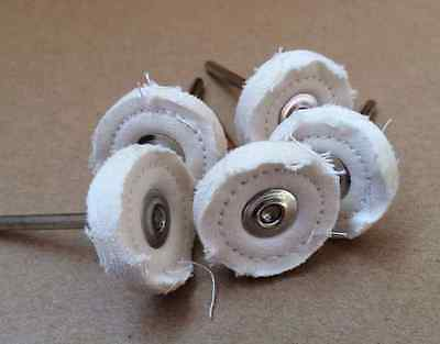 20 Mounted Stitched Polishing Wheel Solid Felt Buff For Dremel Rotary Tools [DOR • 12.56£