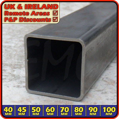 Mild Steel Square Box Section ║ 40mm - 100mm ║ ERW Tube Post Light Heavy Duty • 26.95£
