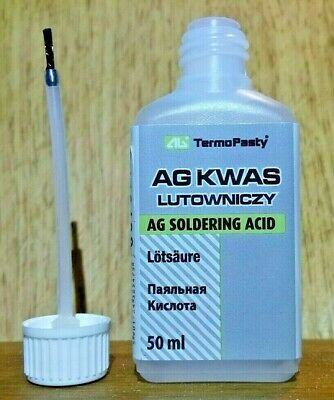50ml  Soldering Acid/flux For Difficult To Solder Surfaces Especially For Nickel • 5.55£