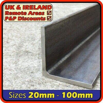 Mild Steel Angle Section [Equal]║20mm⫽25mm⫽30mm⫽40mm⫽50mm⫽75mm⫽100mm • 7.95£