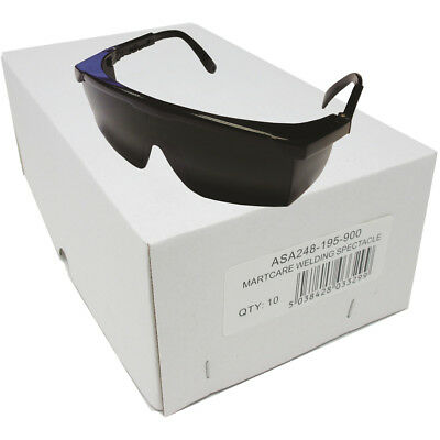 JSP (10 PK) Martcare ASA248-195-900 Wrap-Around Shade 5 Welding Safety Spectacle • 11.10£