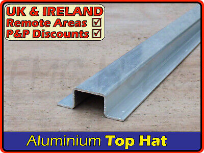 Aluminium Top Hat Section║aprx 50 X 15 Mm║(channel Gutter U Profile Flanged) • 13.95£