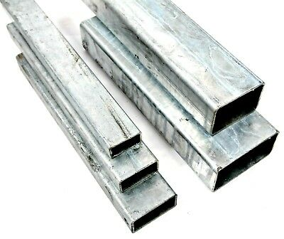 GALVANISED Steel RECTANGULAR Box Section 5 Sizes & 4 Lengths Available • 19.25£