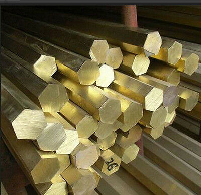 Brass Hexagon Bar /rod - Sizes 3mm - 100mm And All Lengths - Model Making  • 22.49£
