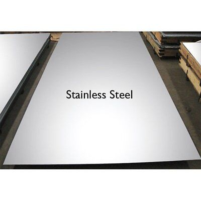 Brushed Stainless Steel Sheet/plate - (0.9mm, 1.2mm &1.5mm)thick - Many Lengths • 72.99£