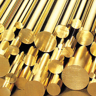 Brass Round Bar/Rod - Diameters 3mm To 120mm - Various Lengths - Modelmaking • 19.99£
