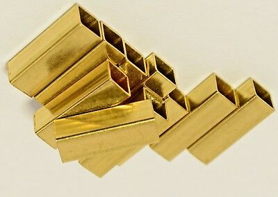 BRASS BOX SECTION - SQUARE TUBE/ PIPE - Grade CZ108  - Many Sizes - Many Lengths • 13.45£