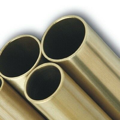 BRASS ROUND TUBES - Grade CZ126 - Various Wall Thickness, Diameters And Length • 9.15£