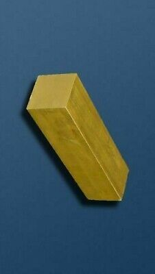 BRASS SQUARE BAR/ROD -  SOLID - Many Lengths & Diameters - Lathe Milling  • 4.09£