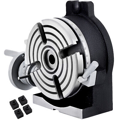 Tilting Rotary Table 150mm 5.9  4-jaw Chuck Tools Milling Horizontal / Vertical • 125.59£