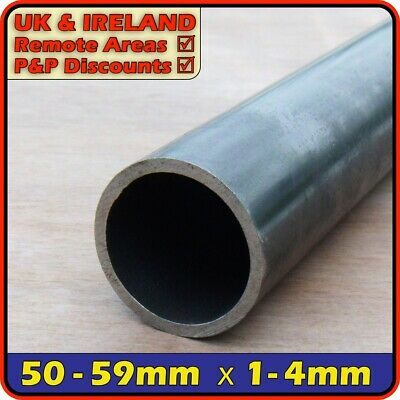 Mild Steel Round Tube║50mm - 59mm Outside Diameter║pipe Section,ERW,CHS,post • 11.95£