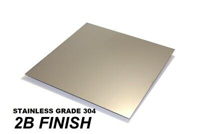 304 Stainless Steel  Sheet - (0.5, 0.7, 1.2, 2, 3 & 4)mm Thick -  MANY  SIZES • 11.20£