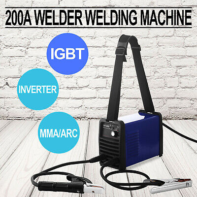 MMA 200 Amp IGBT Inverter DC ARC Stick Welder Portable Welding Machine 230V UK • 62.69£
