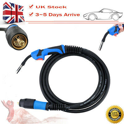0-25mm 180A Mig Welding Euro Torch Conversion Kit MB15AK 4Meter Flexible Hose • 25.99£