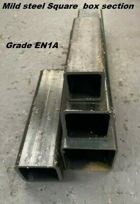 MILD STEEL BOX SECTION  -  75mm Square, 3mm Wall Depth  -  Many Lengths • 25.55£