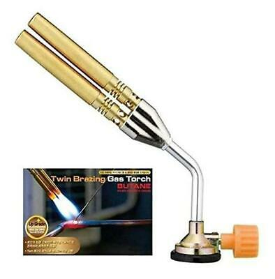Twin Tube Flame Butane Gas Blow Torch Brazing Manual Ignition Welding  • 10.03£