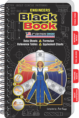ENGINEERS Black Book - Large Workbench Edition - Great For Toolbox Or Workshop! • 30.05£