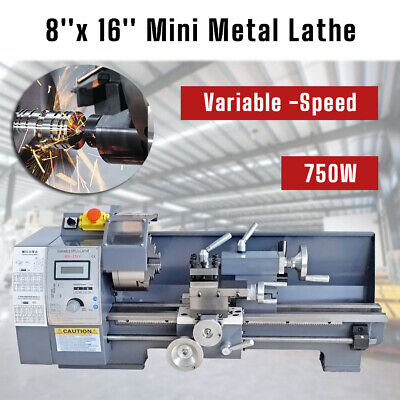 HQ 7''x14'' Precision Mini Metal Milling Lathe Variable Speed 550W 2500 RPM • 432.79£