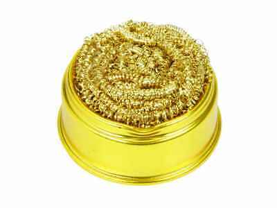 New Soldering Solder Iron Tip Cleaner Brass Cleaning Ball Wire Sponge  • 4.85£