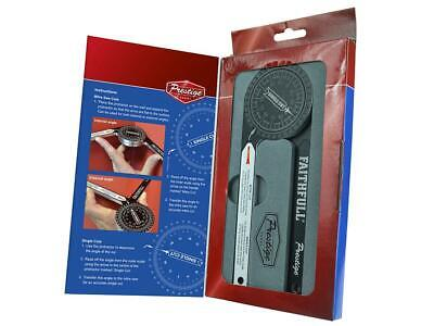 Faithfull Mitre Saw Protractor Angle Finder Goniometer Arm Scale Ruler Gauge • 28.95£