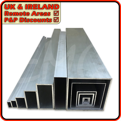 Aluminium Box Section ║ DISCOUNTED Due To Defect ║ 12mm - 150mm • 9.95£