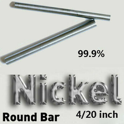 Nickel Ni Pure 99% Round Bar Rod For Electroplating Anode Element 4  20  Nickle • 8.94£