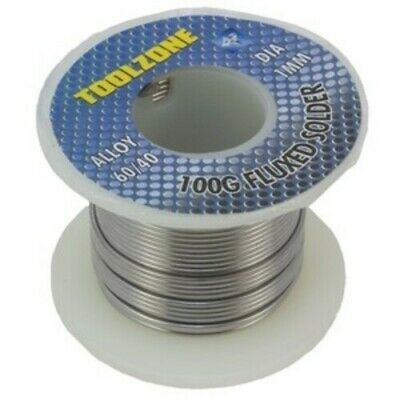 LARGE 100g REEL FLUXED ELECTRICIAN SOLDER WIRE TIN/LEAD 1mm THICK SOLDERING IRON • 6.11£