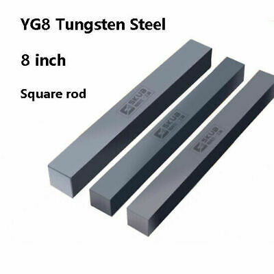 YG8 Solid Cemented Carbide Tungsten Steel Square Bar Rod Strip 200mm 10x10mm UK • 19.99£