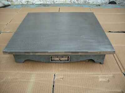 Windley Bros  (Crown) Engineers Cast Iron Surface Plate. 18  Square • 180£