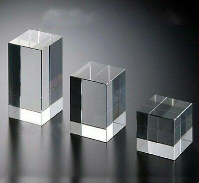 Clear Acrylic Cube Cuboid 3-5cm Square Rod Bar Display Stand Holder UK Stock • 10.69£