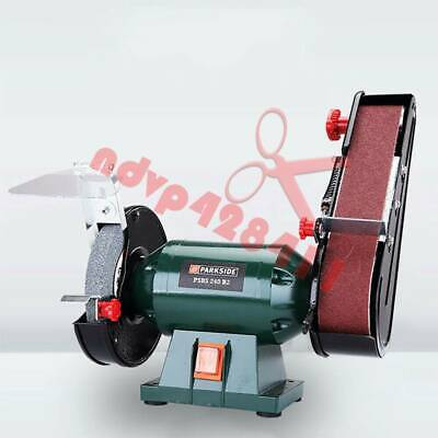 220V Electric Belt Sander Abrasive Finishing Grinding Machine Knife Sharpener • 162.50£