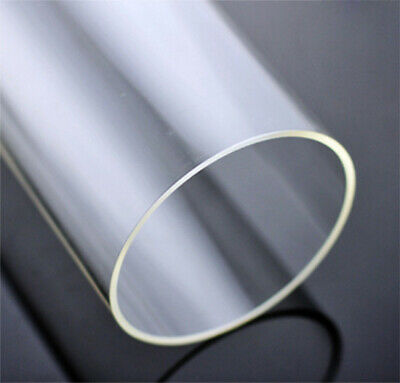 2pcs 6-45mm Diameter Clear Acrylic Plastic Lucite Tube Pipe Wall 3mm 10 Inch • 11.96£