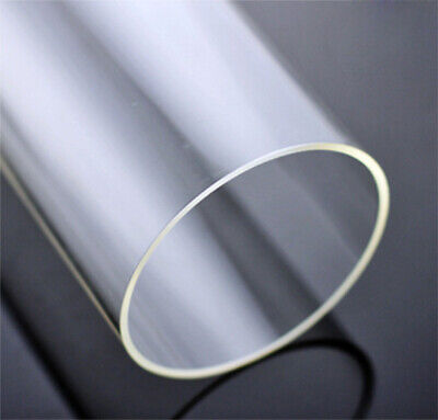 2pcs 6-45mm Diameter Clear Acrylic Plastic Lucite Tube Pipe Wall 3mm 10 Inch • 9.49£