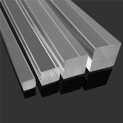 3x3-30x30mm Super Clear Acrylic Plexiglass Lucite Square Rod PMMA Bar 20  BR • 17.99£