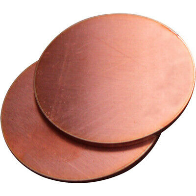 2pcs Wall1mm 20-200mm Solid Red Copper Discs Blanks Round Plate Sheet Anode UK • 7.19£