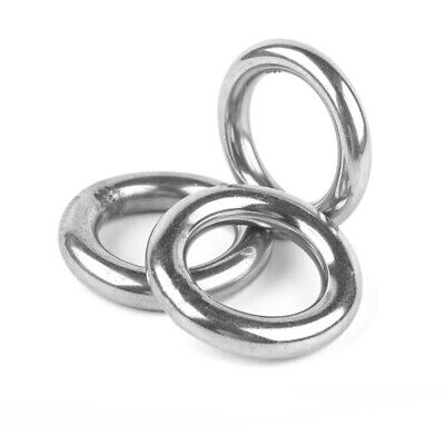 2pcs 304 Stainless Steel Wire 1cm Hoop Welded Ring Seamless Solid Round OD 6  UK • 8.29£