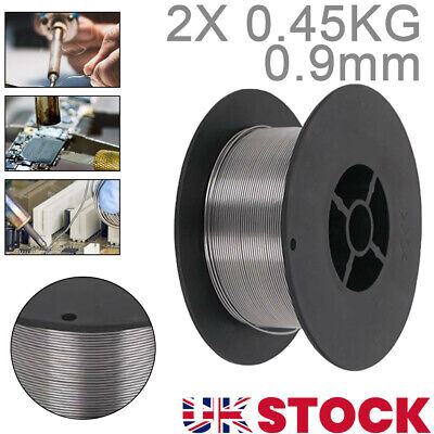 2X Gasless (Flux Cored) MIG Welding Wire - 0.45Kg 0.9mm (MB15 Tips And Shrouds) • 11.59£