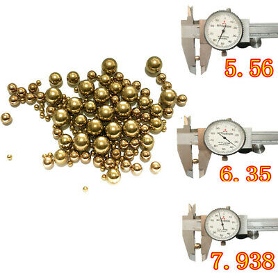 OD 4-10mm Precision Brass Solid Beads Industrial Bearing Ball Copper Sphere UK • 5.59£
