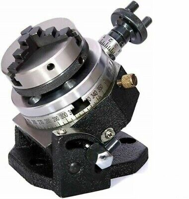 3  80mm Tilting Rotary Table+2  50mm Chuck Self With Back Plate+Tnut For Milling • 105£