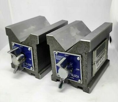 Precision Magnetic V Block 65 X 65 X 50 Mm-2.5 Inch Set Of Two Pc Both Side V • 68£