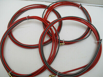4 X 3m Steel Mig Liners. 1.0 - 1.2mm Red Liner For Welding With Mild Steel Wire • 17.99£